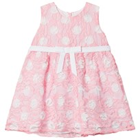 Dr Kid Spotted Lace Infants Dress Pink and White 240