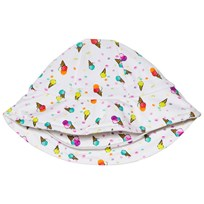 Bora Bora Kids Ice Cream Print Solhatt Vit Ice cream print