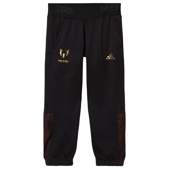 adidas Performance Black Messi Tracksuit Bottoms BLACK/SOLAR RED