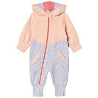 Geggamoja Peach and Gray College Jumpsuit Peach