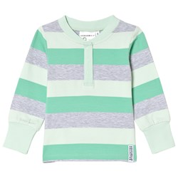 Geggamoja Striped Green and Gray Sweater