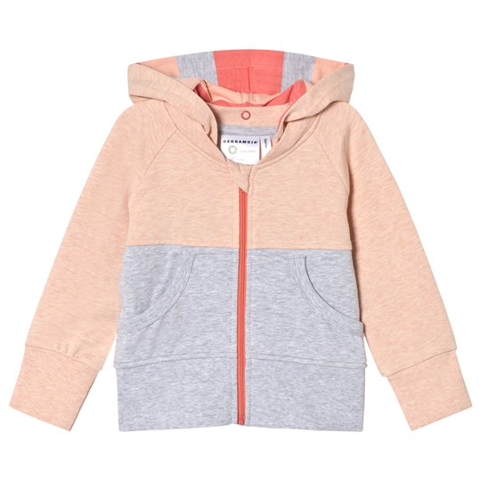 Geggamoja Peach and Gray College Hoodie Peach