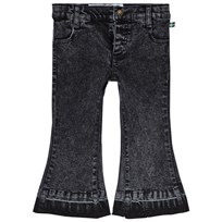 The BRAND Flared Bow Denim Stone Wash Distressed Grey STONE WASH DISTRESSED GREY