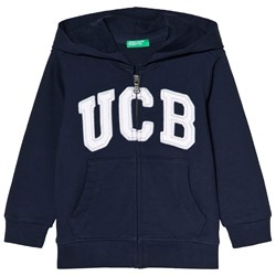 United Colors of Benetton Hoodie in Navy