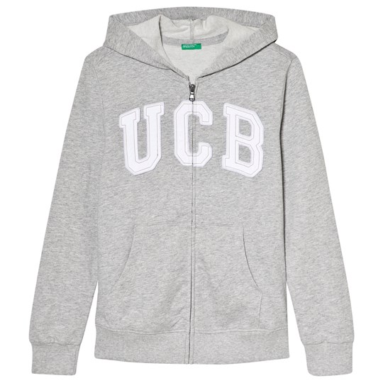 United Colors of Benetton Jacket With Hood L/S Grey Melange Grey Melange