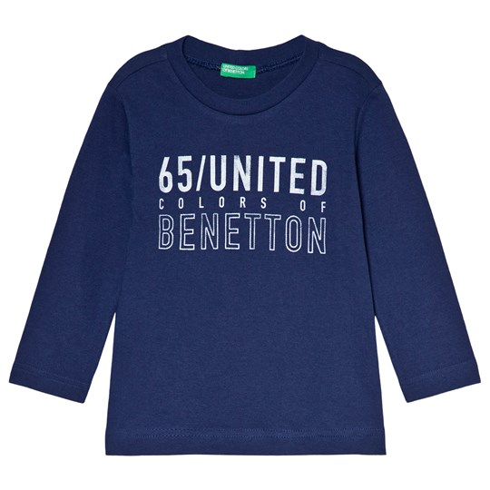 United Colors of Benetton Long Sleeve T-shirt Denim Blue Denim Blue