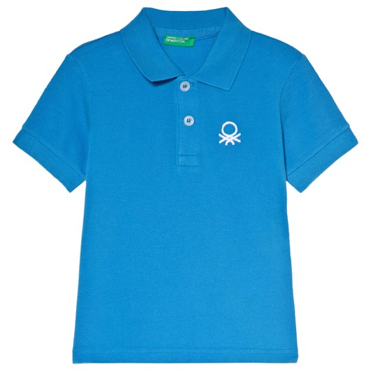 United Colors of Benetton Polo Shirt Bright Blue Bright Blue