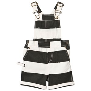 Image of nadadelazos Dungaree Bazi Black Stripes 12-18 mdr (3000208469)