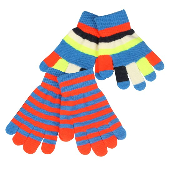 Molo Kei Mittens Electric Blue Multi