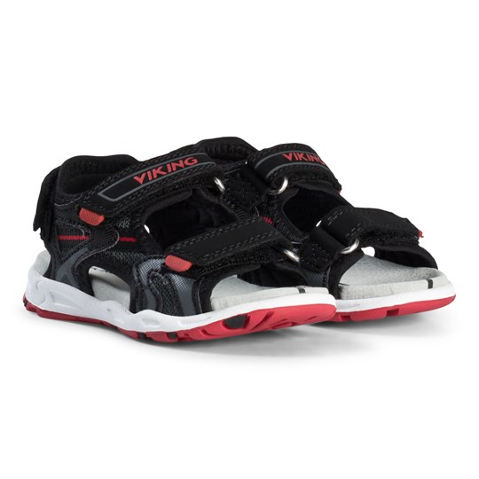Viking Black Charcoal And Red Anchor Sandals Charcoal/Red