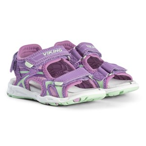 Image of Viking Violet and Mint Anchor Sandals 32 EU (3000208993)