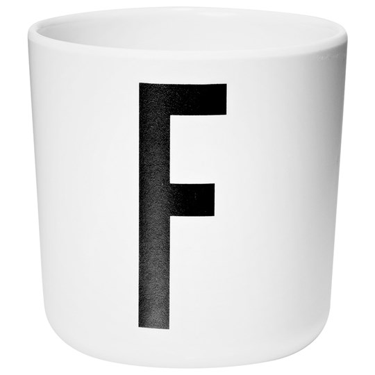 Design Letters Melamine Cup F White