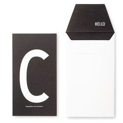 Design Letters Personal Greeting Card - C