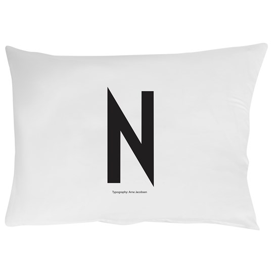 Design Letters Pillowcase N 70 x 50 cm Hvit