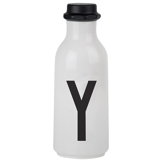 Design Letters Personal Water bottle Y White with black letterprint