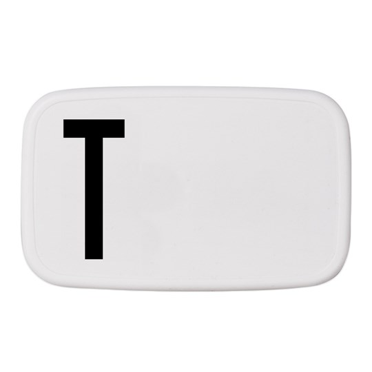 Design Letters Personal Lunch Box T White