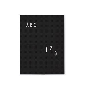 Image of Design Letters Message Board A4 Black (3065504951)