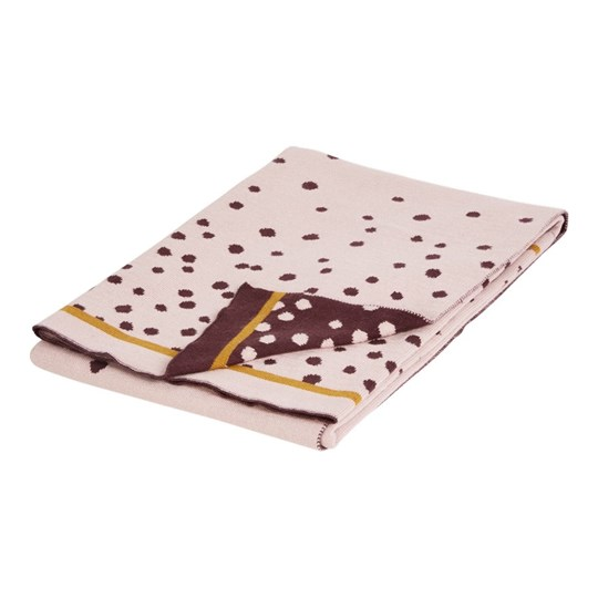 Done by Deer Knitted Blanket Happy Dots Powder Powder