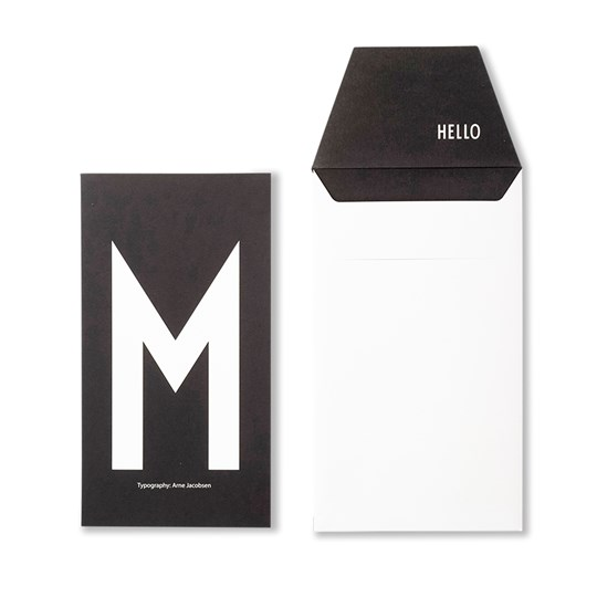 Design Letters Personal Greeting Card - M White