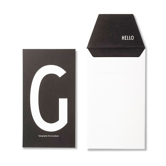 Design Letters Personal Greeting Card - G White