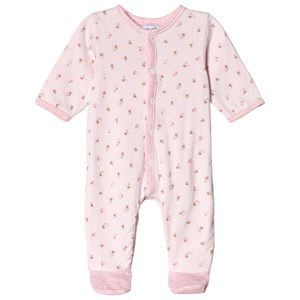 Image of Absorba Pink Floral Footed Baby Body 6 months (2962706517)