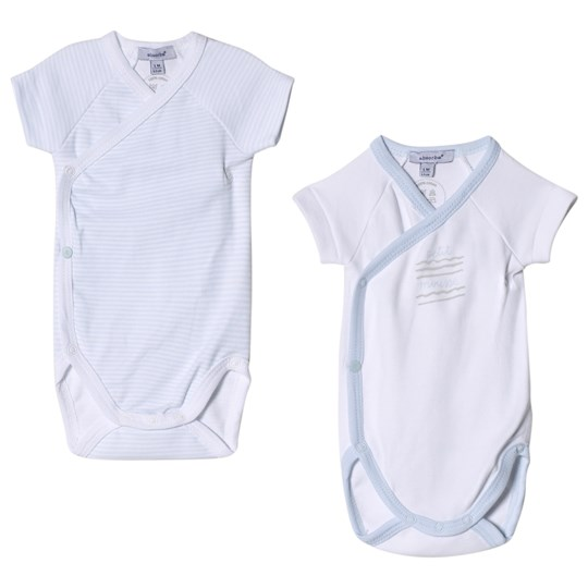 Absorba Pale Blue and White Printed Wrap Body 2-Pack 40