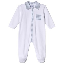 Absorba Footed Baby Body with Check Collar