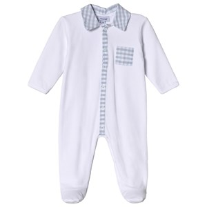 Image of Absorba Footed Baby Body with Check Collar 6 months (2962707183)