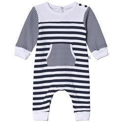 Absorba Navy and White Footless One-Piece