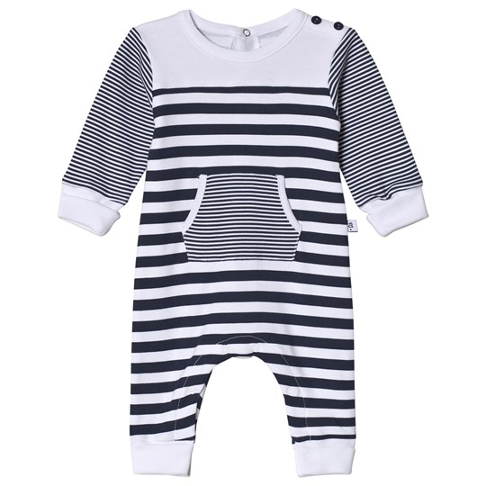 Absorba Navy and White Footless One-Piece 04