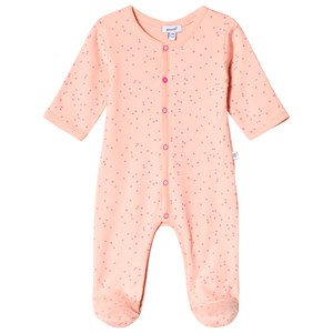 Image of Absorba Pink and Orange Spot Footed Baby Body 12 months (2962706159)