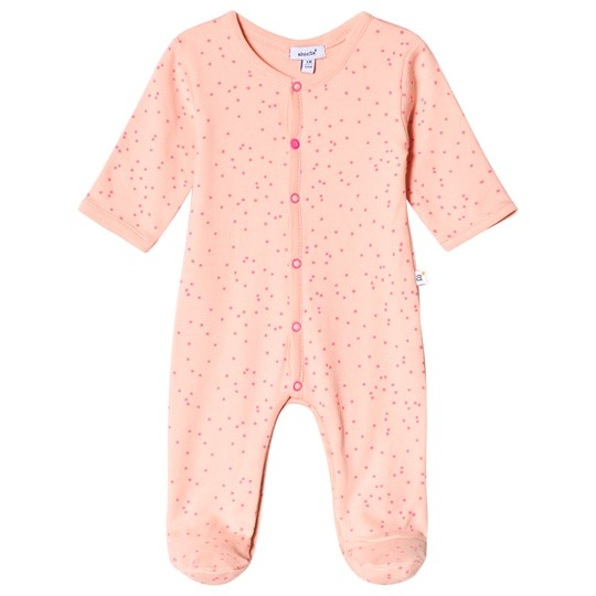 Absorba Pink and Orange Spot Footed Baby Body 32
