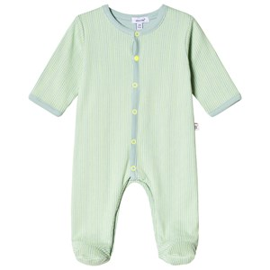 Image of Absorba Green Stripe Footed Baby Body 3 months (3057829223)