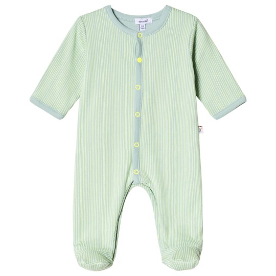 Absorba Green Stripe Footed Baby Body 51