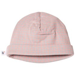 Absorba Grey and Pink Check Hat