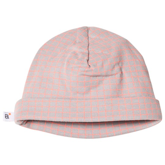 Absorba Grey and Pink Check Hat 22