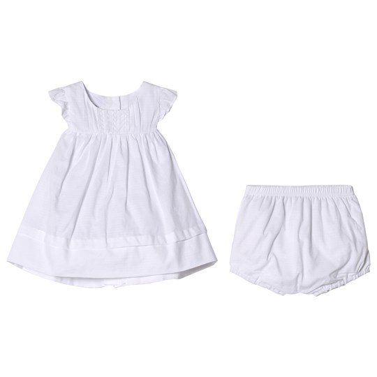Absorba White Dress with Lace Details 01