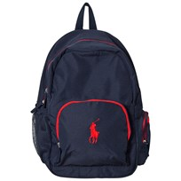 Ralph Lauren Nylon Logo Backpack Navy Marinblå