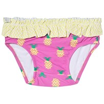 Platypus Australia Pale Pink and Yellow Pineapple Print Baby Brief Pink/Yellow