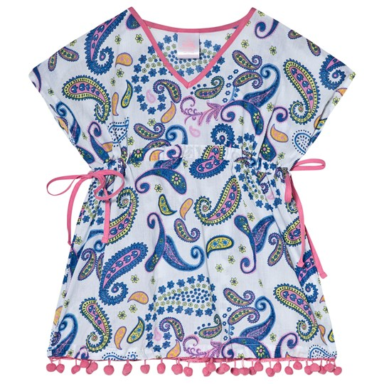 Platypus Australia Boho Paisley Sundress with Pom Poms Mutli Graphic