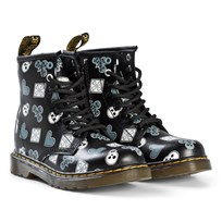 Dr. Martens Black Playing Cards Delaney Boots BLACK PLAYING CARDS MULTI K