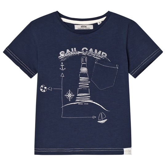 ebbe Kids Zixten Tee Midnight Navy Midnight Navy