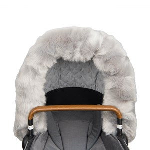Image of Bjällra of Sweden Faux Fur Collar for Hood Grey One Size (982463)