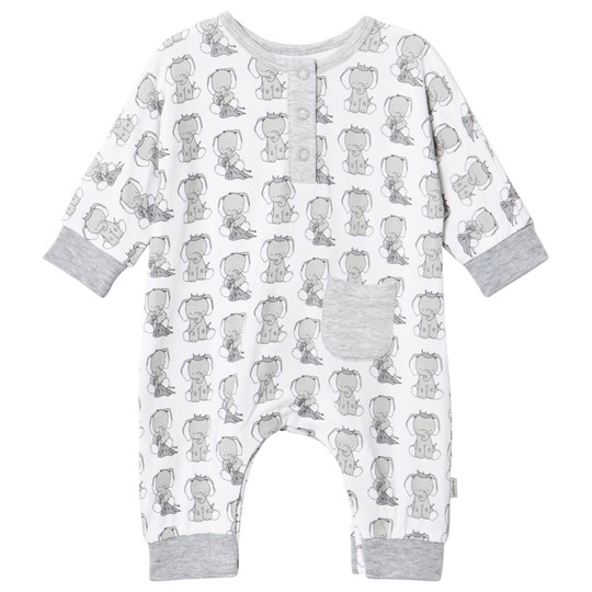 Hust&Claire Elephant Print One-Piece White White