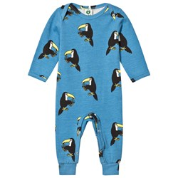 Småfolk Blue Toucan Print One-Piece