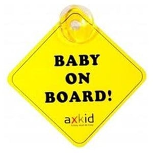 Image of Axkid Baby On Board Sign Yellow (3065591565)