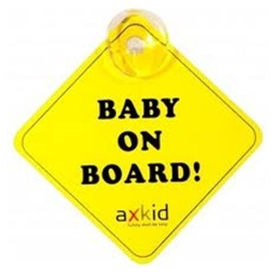Axkid Baby On Board Sign Yellow Multi