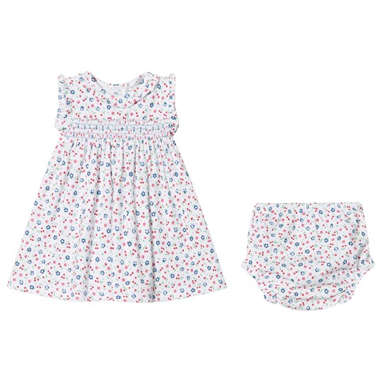 Kissy Kissy Cherry and Floral Print Smock Dress with Knickers White WH