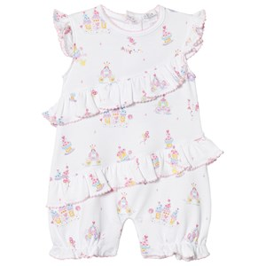Image of Kissy Kissy Candy Castle Print Ruffle Romper White 6-9 months (3001922201)