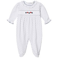 Kissy Kissy Dainty Daisy Print and Embroidered Footed Baby Body White WH